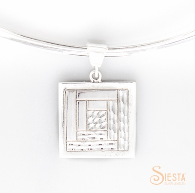 Siesta SS Log Cabin Medium Pendant