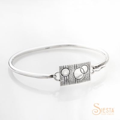 Siesta Silver Convertible Bangle Center Piece Smooth Sister_0