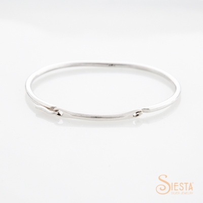 Siesta Silver Convertible Bangle Small