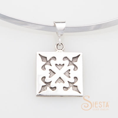 Siesta Sterling Silver Medium Spring Love Pendant