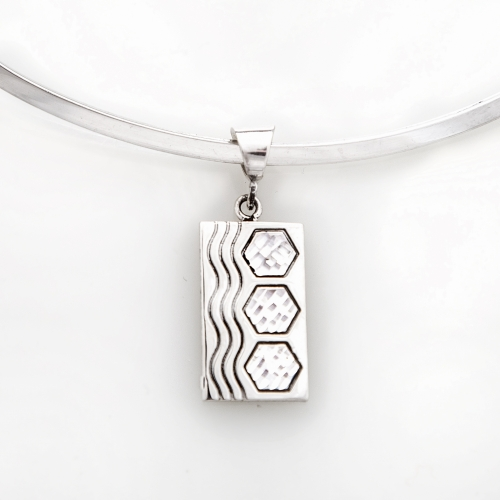 Siesta Sterling Silver Sexy Hexie Pendant Medium