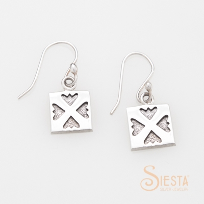 Siesta Sterling Silver Spring Love Earrings on Hook