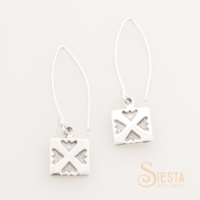 Siesta Sterling Silver Spring Love Earrings on Long Wire