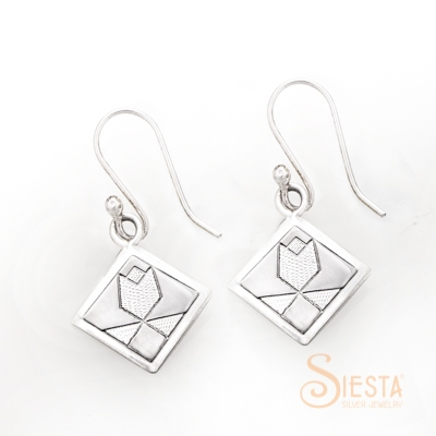 Siesta Sterling Silver Tulip Earrings on Hook
