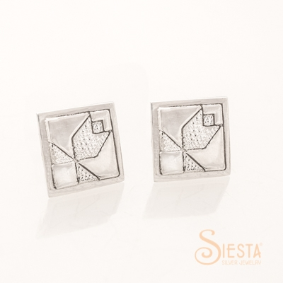 Siesta Sterling Silver Tulip Earrings on Post