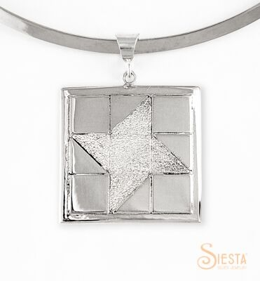 Sterling Silver Large Friendship Star Pendant