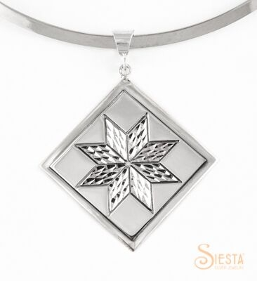 Sterling Silver Large Lemoyne Star Pendant