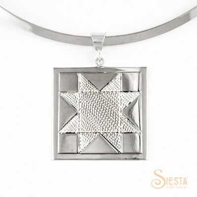 Sterling Silver Large North Star Pendant