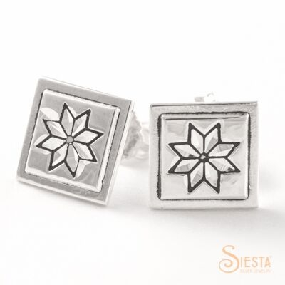 Sterling Silver Mini Lemoyne Star Earrings on Post