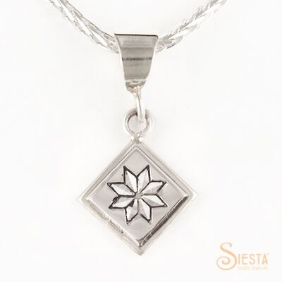 Sterling Silver Mini Lemoyne Star Pendant