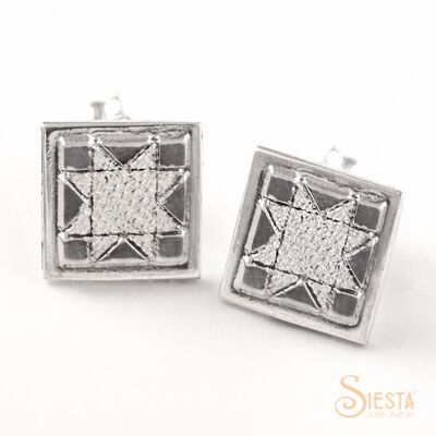 Sterling Silver North Star Mini Post Earrings